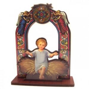 Image enfant Jésus sur base 11cm
