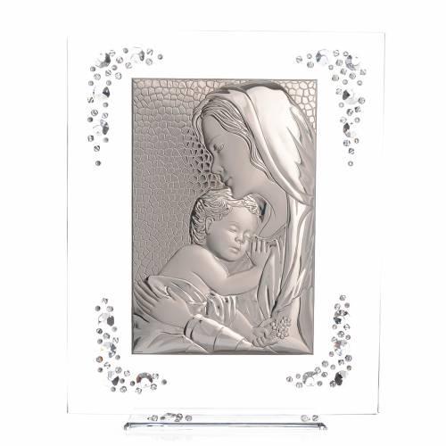 Cadre Maternité argent et Swarovski blanc