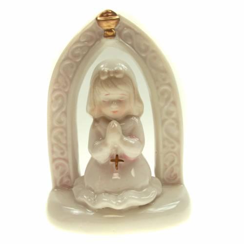 Fille en prière première communion céramique 11cm