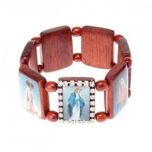 Bracelets avec images en bois