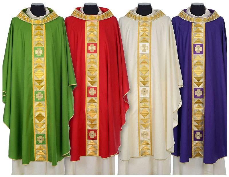 Les couleurs de la chasuble liturgique