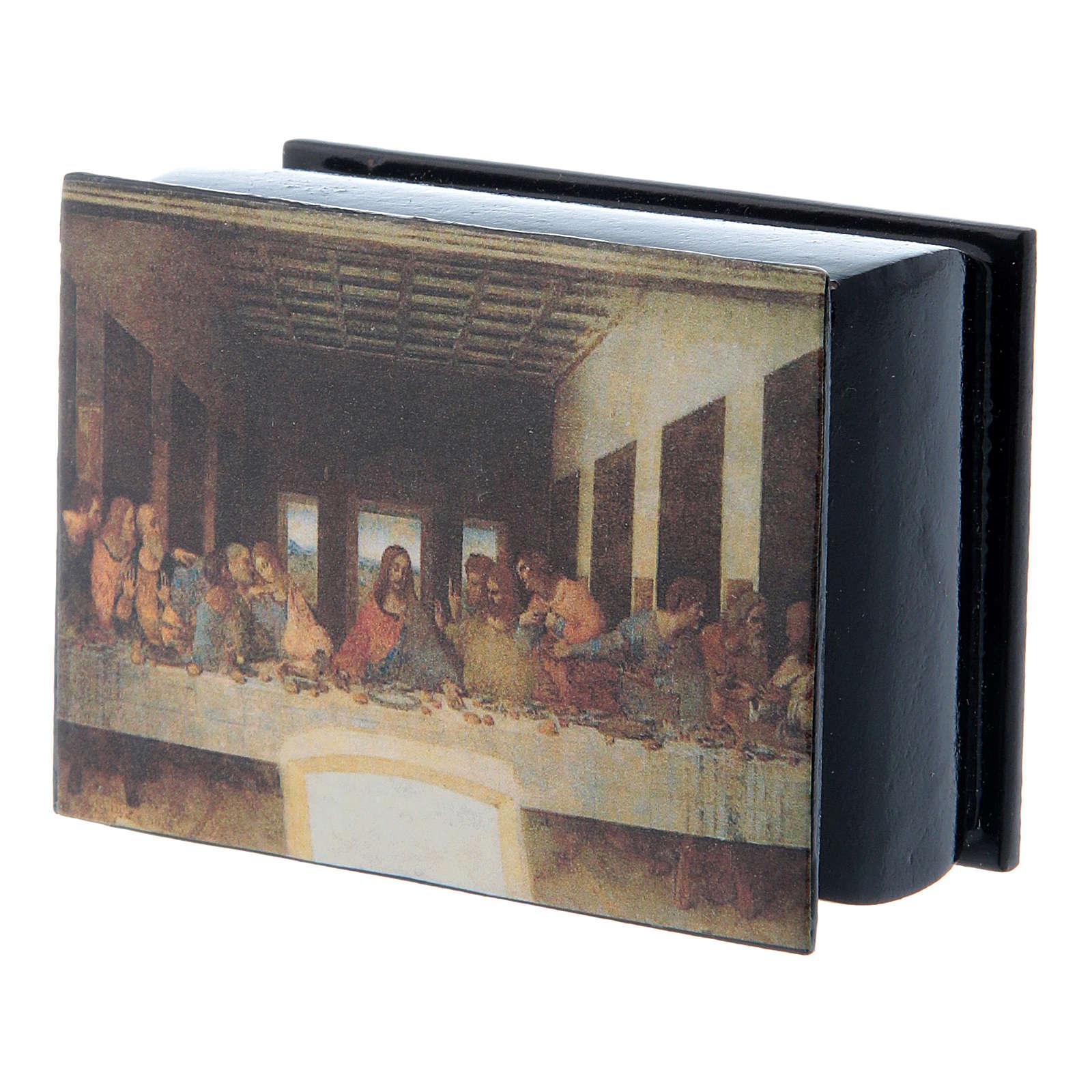 Boîte russe décorée papier mâché Cène
