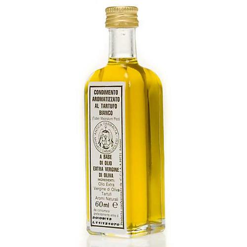 Huile extra vierge d'olive aromatisée à la truffe blanche.