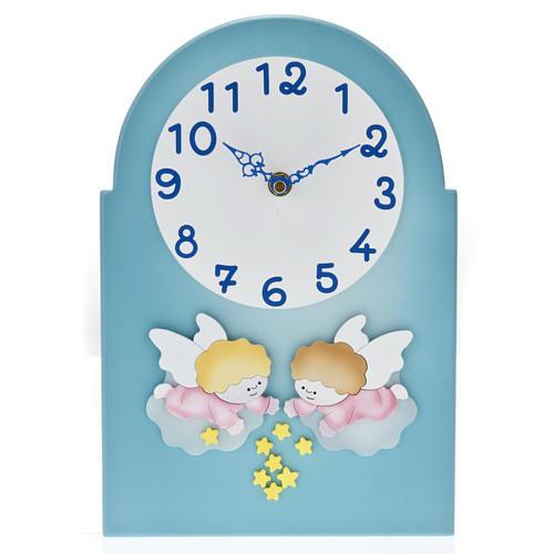 Cadre religieux horloge avec anges