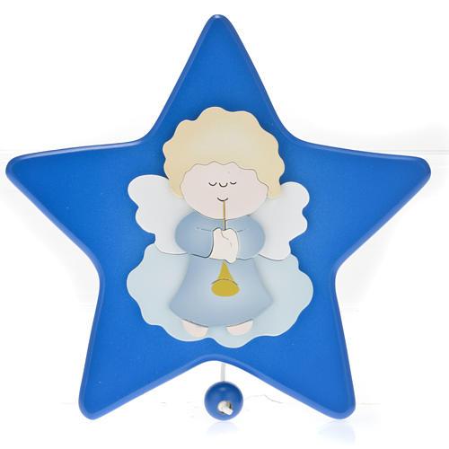 Carillon étoile avec petit ange gardien