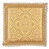 pale pour calice motif croix sur tissu brocart jaune